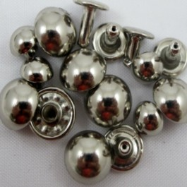 DOMED 2 PIECE RIVET NICKEL - 20 PACK