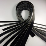 VEGETABLE TANNED LEATHER STRIPS - BLACK