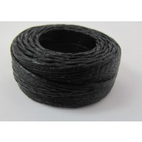 WAXED LINEN SEWING AWL THREAD BLACK 25 YDS