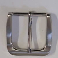HALF BELT BUCKLE 35MM ROUNDED (SATIN NICKEL)