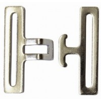 SURCINGLE CLASP BUCKLE EYE/HOOK PAIR 50MM(NICKLE)