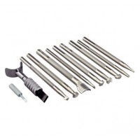 STAMP & SWIVEL KNIFE TOOL SET - BASIC 10 PIECE SET