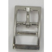 FULL DOUBLE BAR BUCKLE SQUARE NICKEL