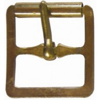 FULL ROLLER LIGHT BUCKLE BRASS FINISH 22MM