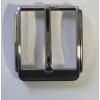 HALF BELT BUCKLE 30MM SQUARE (SATIN NICKEL)