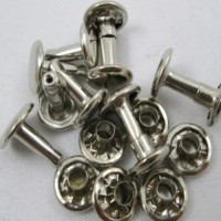 RIVET DOUBLE CAP - NICKEL