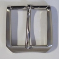 HALF BELT BUCKLE 30MM ROUNDED (SATIN NICKEL)