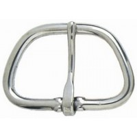 HALF FLAT CINCH BUCKLE - 75MM (NICKEL)