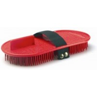 GROOMING PLASTIC CURRY COMB BRUSH ELASTIC