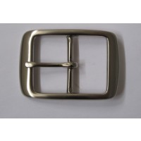 FULL BELT BUCKLE 35MM (SATIN NICKEL ON SOL. BRASS)