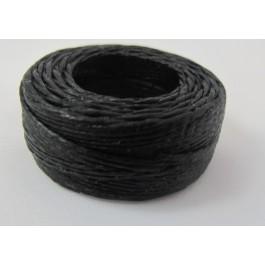 WAXED LINEN SEWING AWL THREAD BLACK 25 YDS