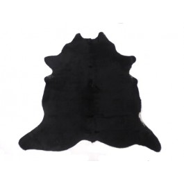 NATURAL COWHIDE RUG BLACK
