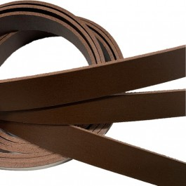VEGETABLE TANNED LEATHER STRIPS - DARK BROWN