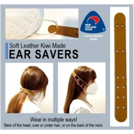 EAR SAVER LEATHER FACE MASK HOLDER