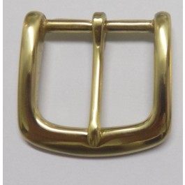 HALF BELT BUCKLE 38MM SOLID BRASS (POLISHED)