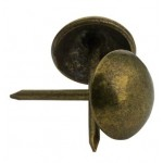 UPHOLSTERY TACKS SMOOTH-ANTIQUE BRASS 100 PACK