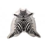 ZEBRA BLACK ON WHITE PRINT COWHIDE RUG