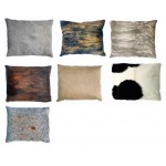 COWHIDE CUSHION 45 X 55