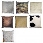 COWHIDE CUSHION 55 X 55