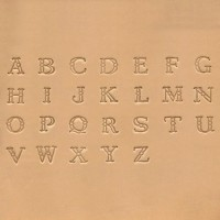 STAMP SET - ALPHABET FANCY