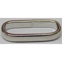 LOOP/SLIDE BELTS STRAP NICKEL OVER BRASS 25MM