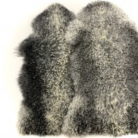 KARAKUL SHEEPSKIN RUG NAT GREY