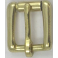 HALF ROLLER HARNESS BUCKLE BRASS 16MM
