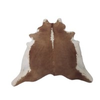 NATURAL COWHIDE RUG BEIGE & WHITE