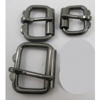 HALF ROLLER HEAVY DUTY GEAR BUCKLE BLACK NICKEL