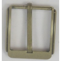 HALF BELT BUCKLE 30MM SQUARE (SOLID BRASS)