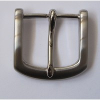 HALF BELT BUCKLE 38MM (SATIN NICKEL)