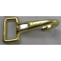 BRASS FLAT FIXED SPRING SNAP POLO 25MM