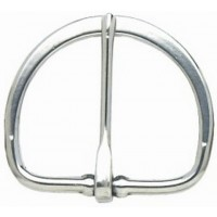 HALF FLAT CINCH BUCKLE STAINLESS STEEL - 75MM