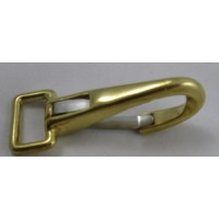 BRASS FLAT FIXED SPRING SNAP POLO 19MM