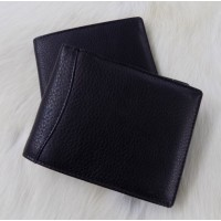 LEATHER BRANDED BLACK LEATHER WALLET - EACH