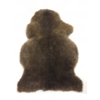 SHEEPSKIN RUG NATURAL BLACKY BROWN