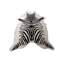 ZEBRA PRINT BLACK ON WHITE COWHIDE RUG