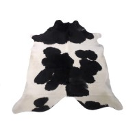 NATURAL COWHIDE RUG BLACK & WHITE