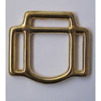 3 - LOOP HALTER SQUARE - BRASS