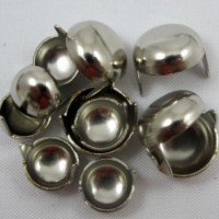 DECORATIVE 1/2 ROUND SPOTS NICKEL - 20 PACK